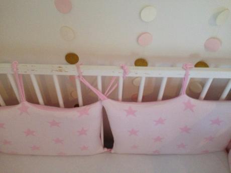 Luxusní mantinel do postýlky babys only pink star , 40,180