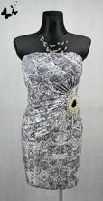 Elastické šaty hadí vzor vel 38, 38