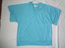 Krásné tyrkysové tričko 44/46, 44