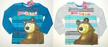 Tričko s dl.rukávy máša a medvěd, 98 - 128