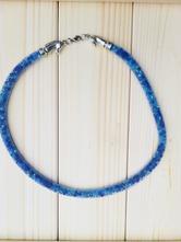 Korálkový náhrdelník koně modrý,