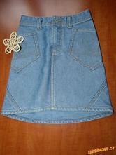 Riflová sukně, h&m,122