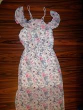 4800aef9b698 Překrásné bílorůžové květované maxi šaty