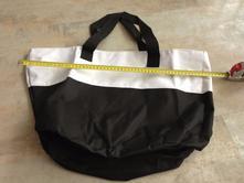 Nákupní taška kabela černobílá xl omyvatelná pevná,