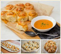 Rajčatová polévka se sýrovými šneky