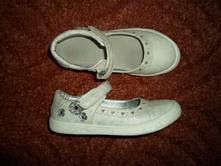 Bílé boty botičky baleríny balerínky polobotky, baťa,31