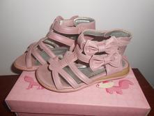 Růžové sandálky s mašličkami, vel. 26, nelli blu,26