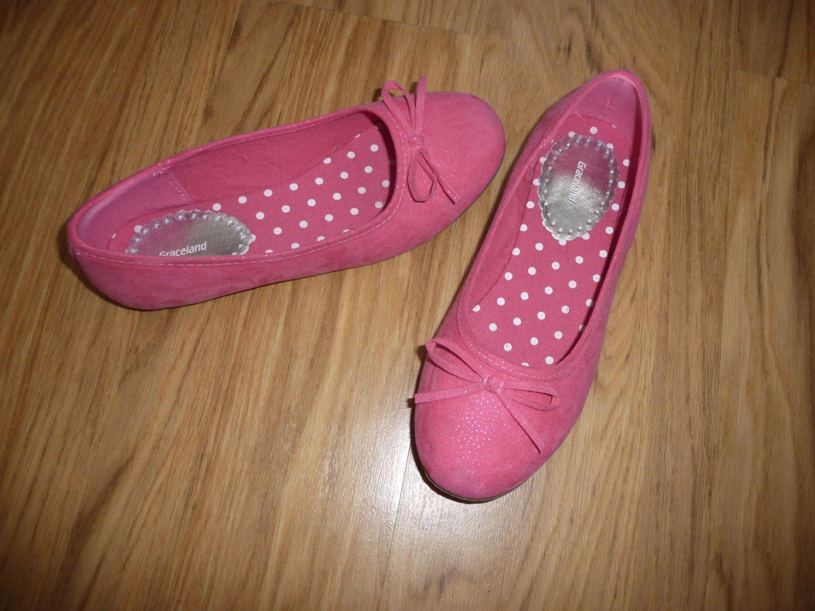 00a2dc14768 Růžové baleríny- jarní boty vel.34