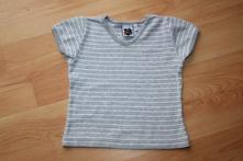 Tričko - bílo-šedé proužky vel. 110, kids,110