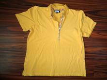 Luxusní žluté tričko s límečkem l/xl, l