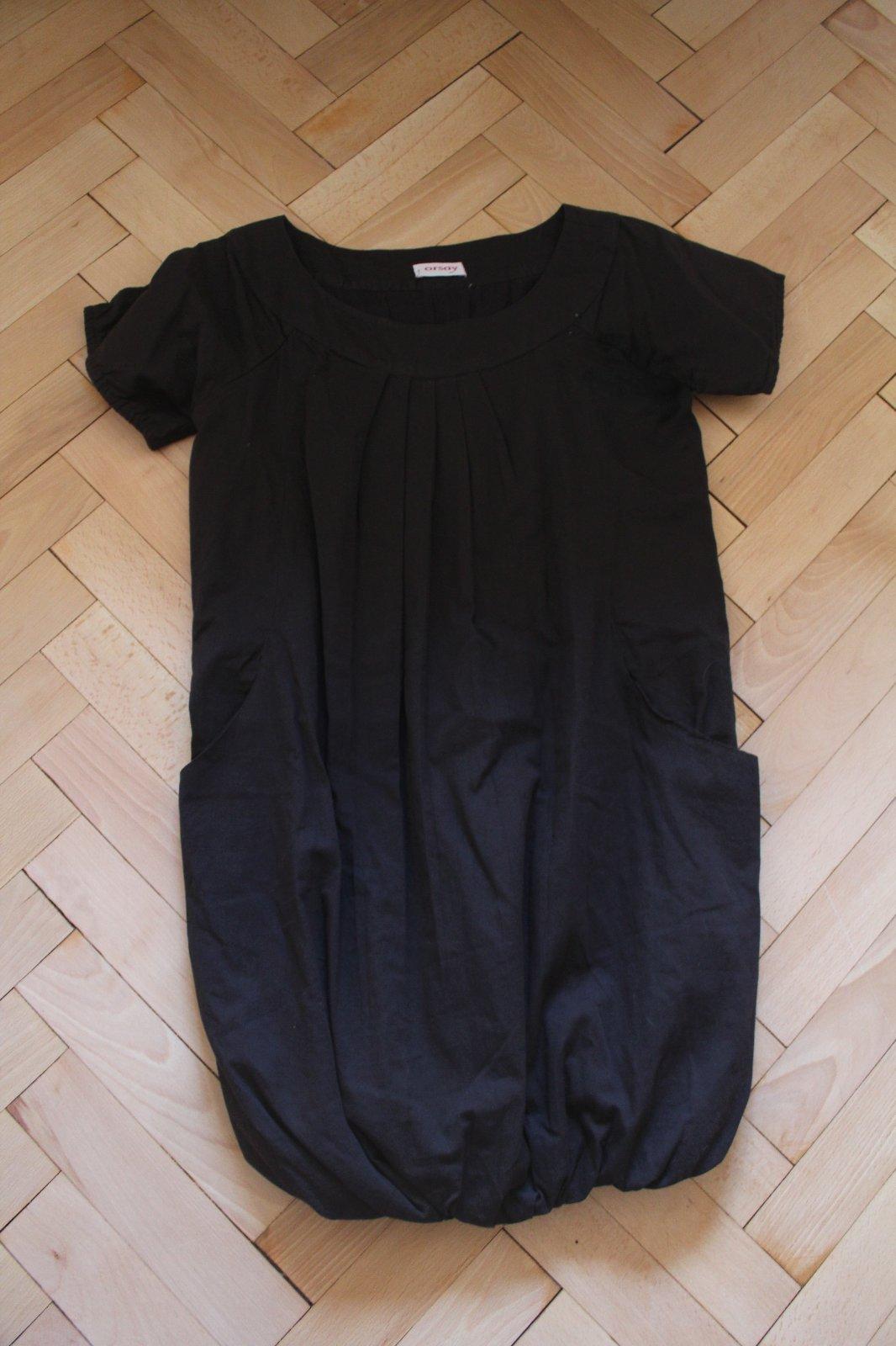 b13887154b09 Černé balonové šaty s kapsami