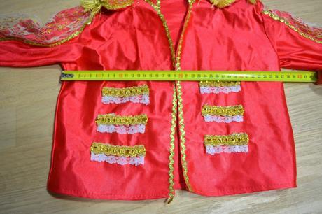 Kabátek oranžový karnevalový kostým,