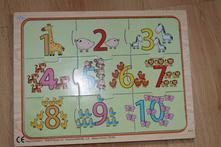 Dřevěné puzzle s čísly,