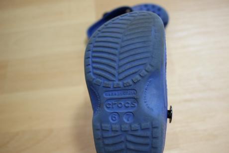 Crocs pantofle modré, bez pásků, crocs,23