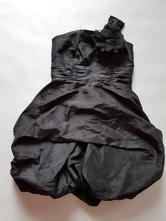 Černé saténové šaty, evie angel,146