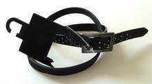 Dámský pásek s kovovou aplikací obvod max 74 cm,