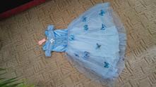 Nádherné princeznovské šaty s motýlky, 98 - 146