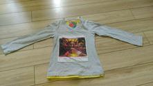 Šedé unisex tričko vel. 128, 128