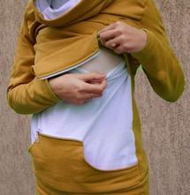 Mikina na kojení se zipsem,
