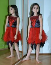 Karnevalové šaty s netopýry čertice, čarodějnice..,