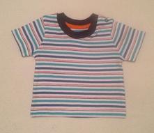 Bavlněné tričko s kr. rukávem proužky, matalan,56