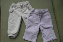 Dvoje manšestrové kalhoty, baby club,68
