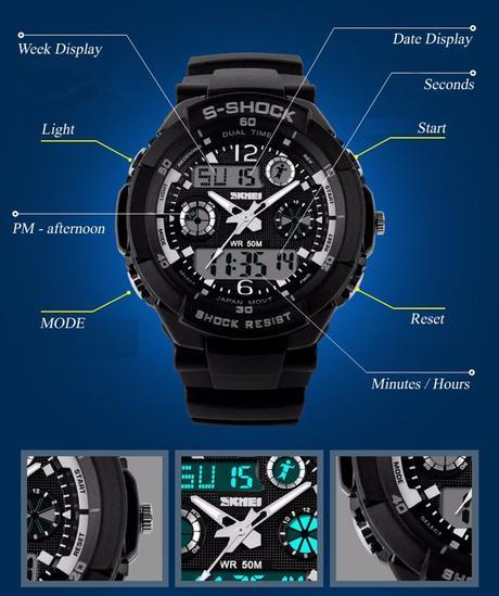 bc3c3623a Pánské hodinky skmei s-shock - různé barvy, - 379 Kč Od prodejkyně ...
