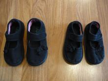 Dvoje plátěné černé botky, f&f,23