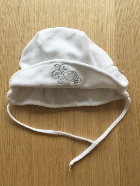 Bílá čepice klobouček, 56