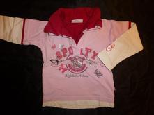 Třpytivé tričko s límečkem, kiki&koko,92