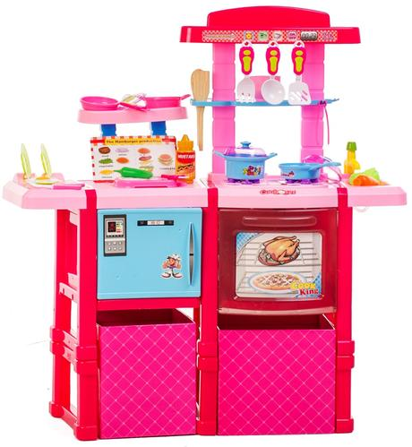 Dětská kuchyňka s troubou a lednicí,