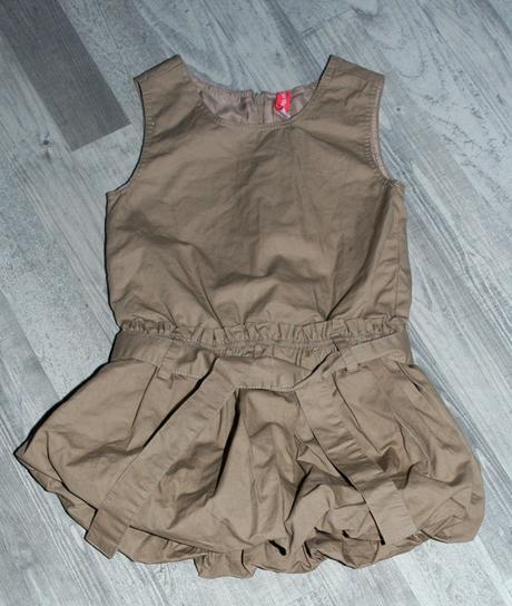 Hnědé dívčí šaty s balonovou sukní, kids,98