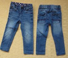 Kalhoty džínové 2ks, vel.98/104, 98