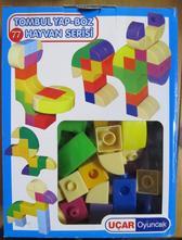 Stavebnice / kostky různé tvary,