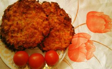 Fašírky z ovsených vločiek a strúhaneho syra,zelenina