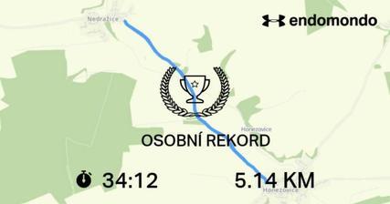 Dnes neskutečné dusno, ale i tak jsem svůj časový rekord zaběhla.