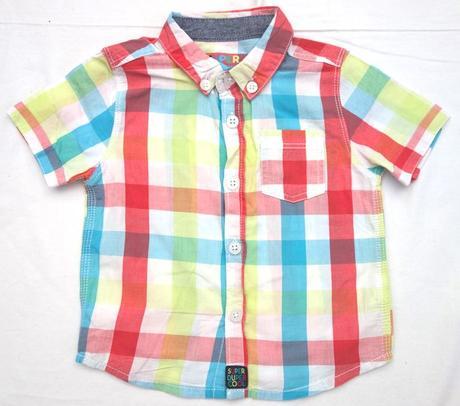 Košile s kr. rukávem vel. 6 - 9 m, f&f,74