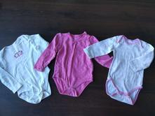 3x body dlouhý rukáv 86/92 růžové, baby club,92
