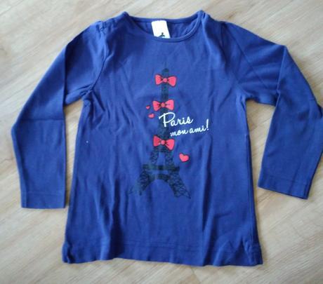 E188. tmavě modré tričko paříž, c&a,116