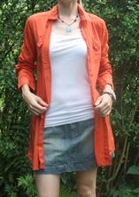 Oranžová dlouhá košile , h&m,s