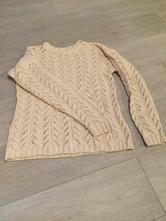 Ručně pletený béžový svetr, l / m