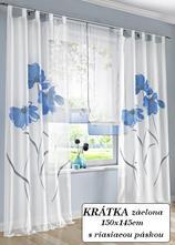 Hotová záclona 150x145 alica modrá,