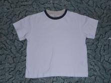 Tričko s modro - béžovou manžetkou, next,92
