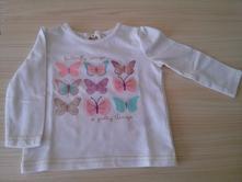 Bavlněné tričko s motýlky, f&f,68