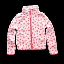 Dětská bunda star, růžová,bun-0043-02, 110 / 116 / 122 / 128