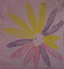Bavlněné tričko next s kytičkou, next,68