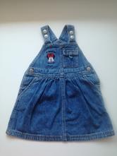 Džínová sukně s laclem, disney,74