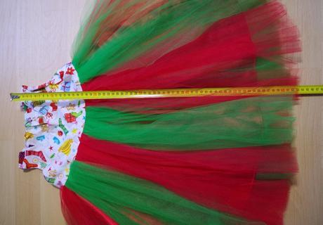 Šaty barevné vánoční kostým ,