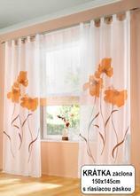 Hotová záclona 150x145 alica orange,