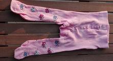 Punčocháče růžové s motýlky, 74